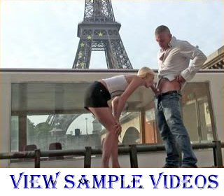 Hot blonde has street sex not far from Eiffel Tower